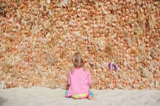 A Massive Wave Made With 3000 Barbie Dolls