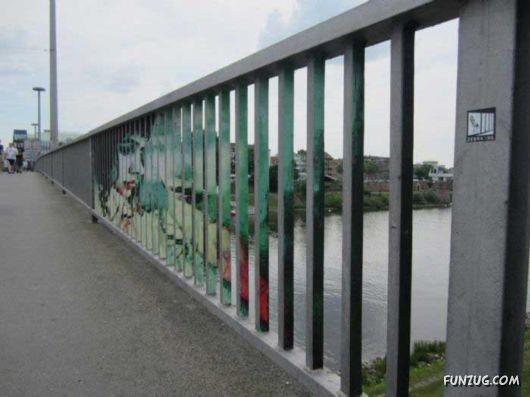 Cool Street Railing Art By Zebrating