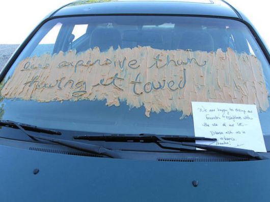 Awesomely Aggressive Windshield Notes You Should Totally Use