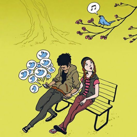 llustrations Showing Our Addiction To Technology