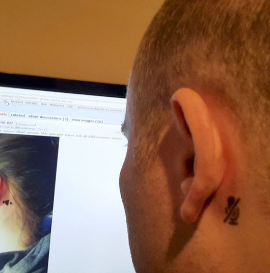 A Girl Who Is Deaf In One Ear Gets A Tattoo