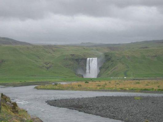 The Skogafoss Falls In Iceland