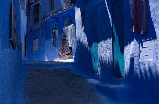 Entirely Blue Old Town Of Morocco