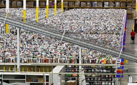 Inside Amazon's Chaotic Storage Warehouses