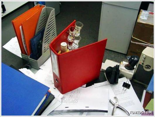 The Hidden Office Bar Idea