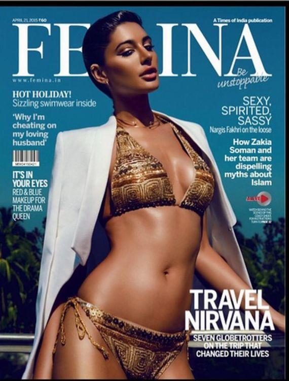 Nargis Fakhri Poses For Femina Magazine