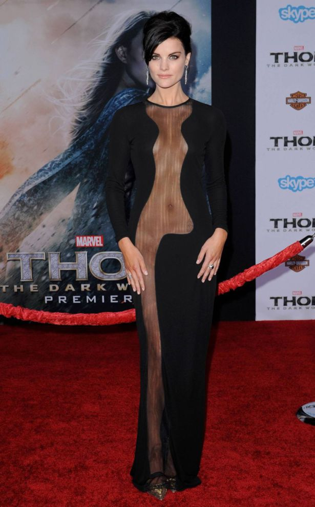 Jaimie Alexander in Thor-2 Premiere